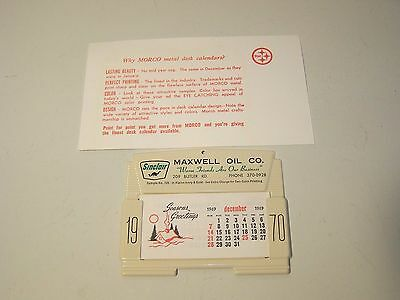 SINCLAIR VINTAGE 1970 MORCO STEEL DESK SAMPLE-Maxwell Oil Co. Collectible
