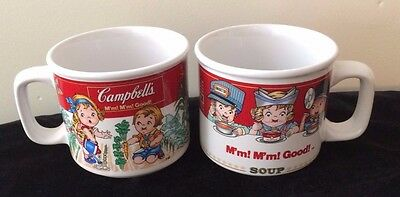 VTG Campbell's Soup Kids Mugs Lot of 2 M'm! M'm! Good By Westwood 1997