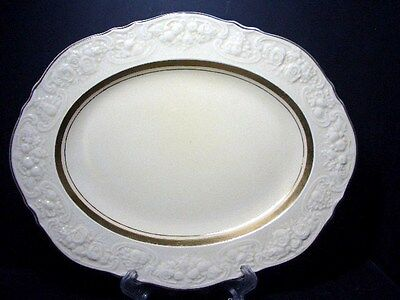 "Beautiful Crown Ducal Crd143 14"" Oval Platter - Embossed Edge"