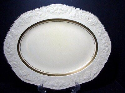 "Beautiful Crown Ducal Crd143 12"" Oval Platter - Embossed Edge"