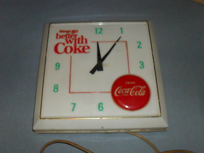 VINTAGE 1960s LIGHTED? COKE CLOCK THING GO BETTER WITH COKE