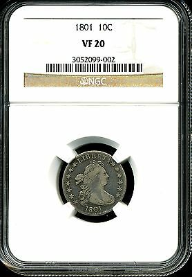 1801 10c Draped Bust Dime NGC VF20 3052099-002