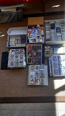 Baseball, Football, Basketball Card Lot Over 3000+ signed & rookie cards