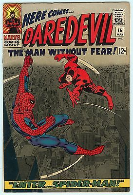 Daredevil #16 Marvel Comics 1966 1st John Romita Spider-Man Art 7.5 VF- Book