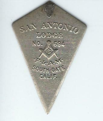 Vintage FREEMASON Mini Trowel San Antonio, TX Lodge #694 Mason Freemasonry 2.5""