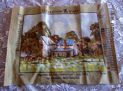 Tapestry Collection D'art - Grazing By The Farmhouse -By Frank Mutsears -Worked