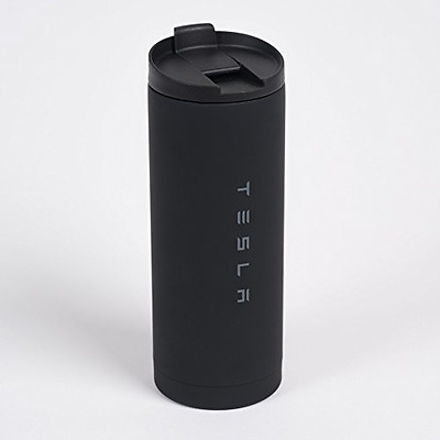 Tesla Motors Official Black Stainless Steel Travel Mug/Tumbler 16oz NEW WITH TAG