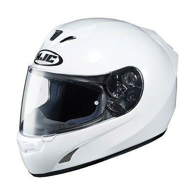 HJC FS-15 Solid Street Motorcycle Helmet All Gloss Shiny White XLarge XL