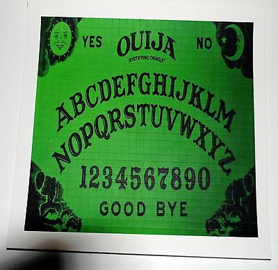 Green Ouija Board Blotter Art perforated magical psychedelic 900 hit magic