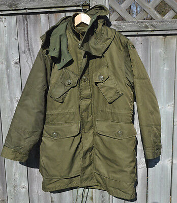 Canadian Army Extreme Cold Parka 3 Piece Full Set Arctic Size 1 Small Short OD