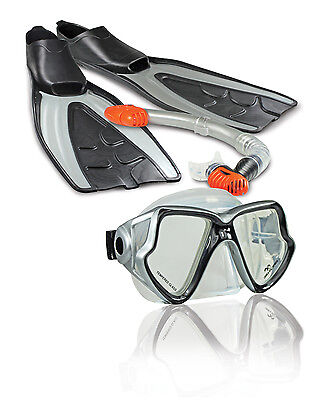 Land & Sea Fiji Adults Flippers Snorkel Mask sets for Snorkelling NEW