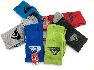 Quiksilver Swift-Dry Kids 6-Pair Set of Socks