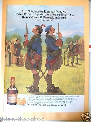 DRAMBUIE RUSTY AND DUSTY NAIL SCOTCH DUEL 1990 Print MAGAZINE Ad  FREE SHIP