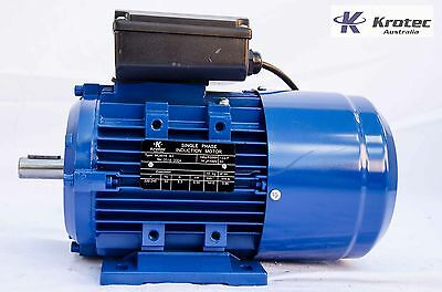Electric motor single-phase 240v 0.55kw  3/4 hp 1410 rpm  krotec