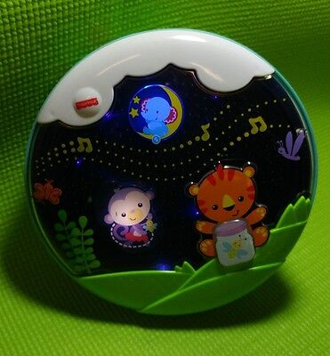 Pre-owned Baby Crib Fisher-Price Shooting Stars Glow Soother Music Nature Sounds
