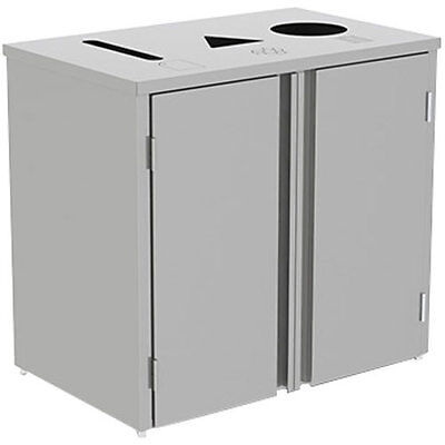 "Lakeside 3315 26-1/2""Wx23-1/4""Dx34-1/2""H 69 Gallon Waste & Recycle Station"