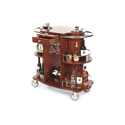 "Lakeside 70260 19-5/8""Dx39-3/8""Wx40-1/2""H Bordeaux Wine/Liquor Cart"