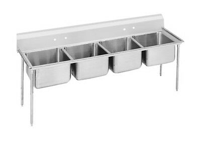 "Advance Tabco 9-4-72 Regaline 4-Compartment Stainless Steel Sink-20""x16"" Bowls"