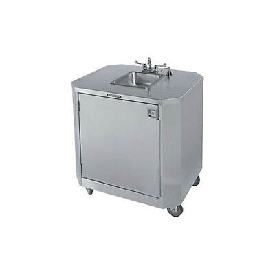 Lakeside 9610 Stainless Steel Mobile Deluxe Hand Washing Station