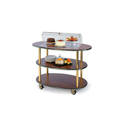"Lakeside 36303 23""Dx44""Wx44-1/4""H Rounded Oval Dome Display Dessert Cart"
