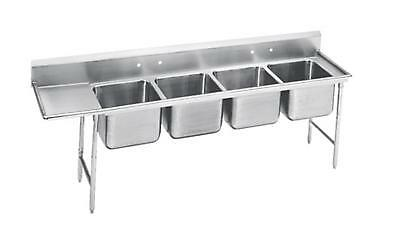 "Advance Tabco Regaline 4-Compartment Stainless Steel Sink-20""x16"" Bowls"