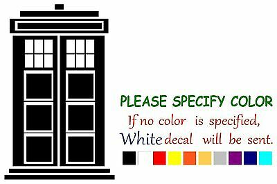 Doctor Who Call Box Graphic Die Cut decal sticker Car Truck Boat Window 7""