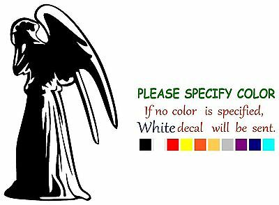 Doctor Who Weeping Angel Graphic Die Cut decal sticker Car Truck Boat 7""