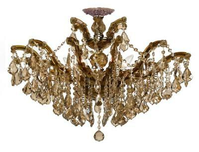 Crystorama 4439-AB-GT-MWP_CEILING Maria theresa Semi Flush 27in Antique Brass