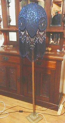 FANTASTIC BLUE AND BLACK SHADE FOR FLOOR LAMP Paris Beaded fringe