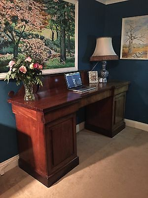 Antique Large 19th Century Mahogany Sideboard Desk 1820 Thomas Mash