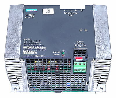 Siemens 6EP1437-1SL01 SITOP Power-30  415V to 24VDC  30A  Power Supply