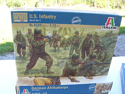 1/72 MILITAIRE WWII 48 Figurines soldats US INFANTERIE ref 6120