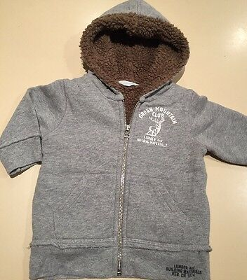 Country Road Baby Boys Zip Front Hoodie Jacket Sz 0 (9-12 Months)