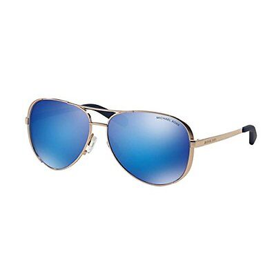 Michael Kors Sunglasses Chelsea MK 5004 1003/25 Rose Gold / Blue Mirror Lens
