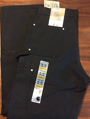 Carhartt Firm Duck Double Front Work Dungaree 30 X 30 Loose Original Fit Black