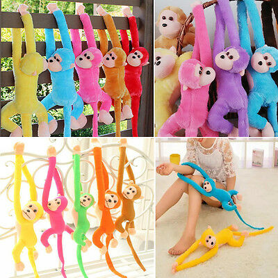 H Baby Kid Soft Plush Toy Cute Colorful Long Arm Monkey Stuffed Animal Doll Gift