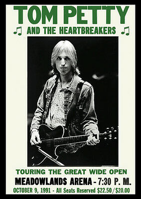 Tom Petty And The Heartbreakers Meadowlands Repro Tour POSTER