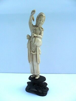 Chinese Statue Lady with Drum