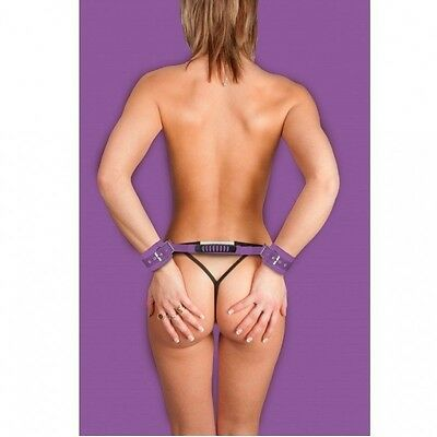 Ouch Esposas Leather Ajustables Lila