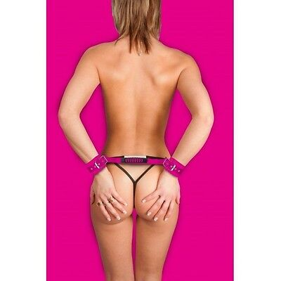 Ouch Esposas Leather Ajustables Rosa