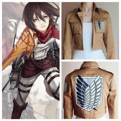 Attack on Titan Shingeki no Kyojin Scouting Legion Jacket Coat Costume Cosplay