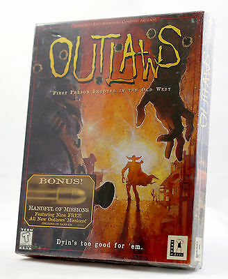 Vintage LucasArts Outlaws + Handful of Missions Big Box SEALED MINT NOS NIB NEW