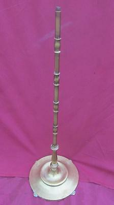 """Vintage Rembrandt Floor Lamp Tall Table Smoke Stand  Solid Brass 32 """" Base"""