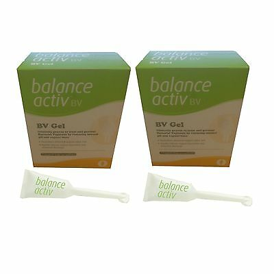 2 x BALANCE ACTIV ACTIVE VAGINAL BV GEL (7 PACK) -RESTORES pH**Free Post**