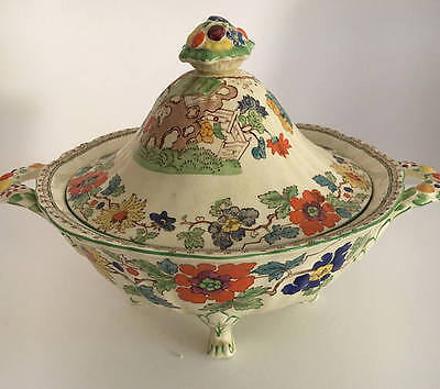 Mason's Bible Green C2639 Patent Ironstone China Lidded Tureen