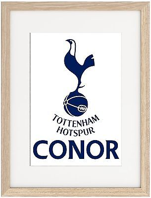 Tottenham A4 Poster Name Personalised  Premier League Spurs Kane London