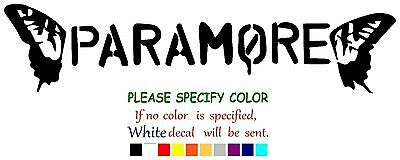 Paramore Graphic Die Cut decal sticker Car Truck Boat Window Laptop 7""