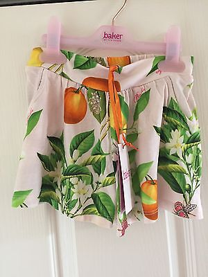 Ted Baker Girls Floral Shorts. Age 2-3 Years. BNWT. Designer