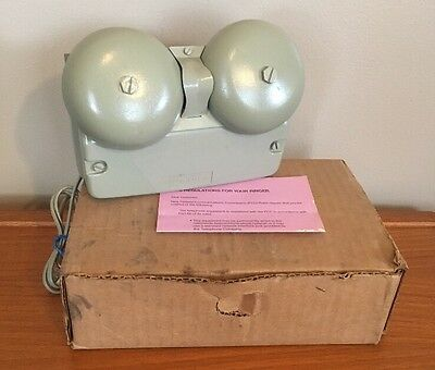 Vintage Western Electric L1AMP Telephone outdoor double bell ringer - mint cond