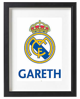 Real Madrid A4 Poster Name Personalised Ronaldo Bale Spain Santiago Bernabeu